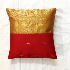 pillow covers for sofa silk pillow cover upcycled indian saree cushion cover golden