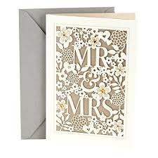 wedding greeting card hallmark wedding greeting card mr mrs office