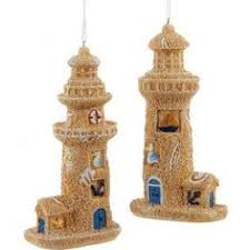 ue and white lighthouse ornaments themed