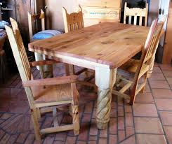 Pine Dining Chair Furniture Artsitic Dining Room Furniture With Rectangular Rustic