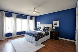 blue home decor accents bedroom ideas navy walls dark and white