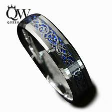 celtic wedding ring sets queenwish 6mm 8mm blue silvering cz celtic tungsten carbide