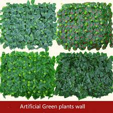 wedding backdrop green artificial green plants wall plastic lawn stage backdrop