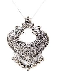 pendant necklace india images Buy sansar india oxidised valentine heart pendant necklace for jpg