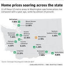 least expensive state to live in home prices rising faster in washington than in any other state