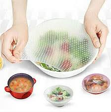 silicone cuisine stretch and fresh reusable silicone food savers set of 4