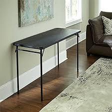 cosco square folding table amazon com cosco 20 x 48 vinyl top folding table kitchen dining