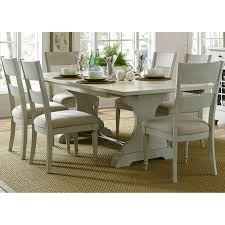 hooker furniture sanctuary 7 piece refectory trestle dining set
