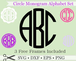 three letter monogram circle monogram svg three letter monogram svg monogramsvg by
