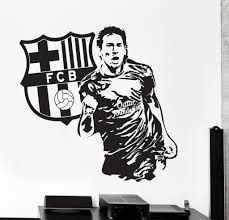 wall vinyl decal lionel messi sport soccer football fc barcelona wall vinyl decal lionel messi sport soccer football fc barcelona z3821