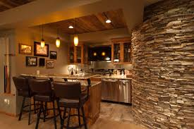 rustic style home basement bar after remodel design finished ideas
