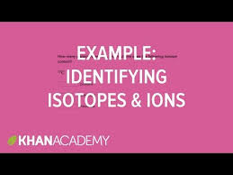 worked example identifying isotopes and ions video khan academy