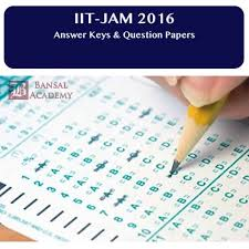 jam exam pattern 2016 jam 2016 question papers answer keys for chemistry physics