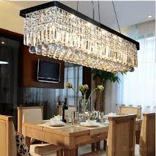 unique rectangular crystal chandelier dining room modern dining