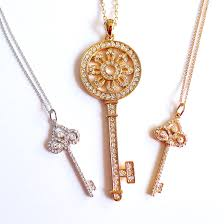 long chain key necklace images Gold key necklace clipart jpg