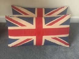 x2 vintage tapestry look union jack cushions rrp 25 each in