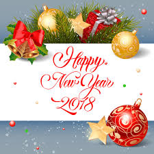new year greeting cards images 2018 new year greeting card with christmas decor vector vector