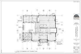 upper floor plan upper floor main roof framing plan monsef donogh design group