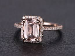 pink morganite myray 14k gold emerald cut pink morganite gemstone
