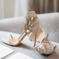 wedding shoes jeweled heels chagne wedding shoes rhinestone stiletto heels bridal sandals