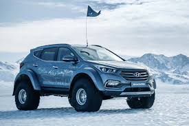 hyundai compact cars beefed up hyundai santa fe crosses antarctica with video cars