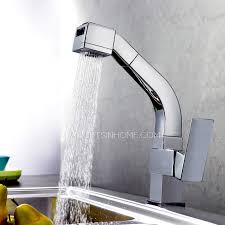 Best Pull Out Kitchen Faucet High End Square Shaped Pullout Rotatable Kitchen Faucet