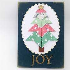 christmas card origami christmas tree cards made by karen