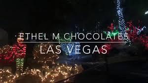 ethel m chocolate factory las vegas holiday lights ethel m chocolates holiday lights youtube