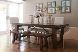 Creating Extraordinary Atmosphere In Dining Room Using Kitchen - White kitchen table with bench