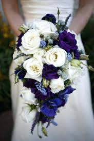 Wedding Flowers Blue And White Blue Purple And White Wedding Bouquets Glam Purple And White