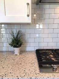 kitchen backsplash mosaic tile colorful backsplash green