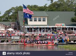 4th of july boat parade in myrtle beach south carolina usa stock