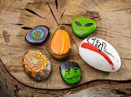 learn about painting rocks and hiding them at craft warehouse
