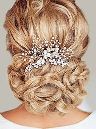 unicra wedding hair combs hair accessories with bead