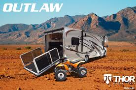 Thor Fifth Wheel Floor Plans by Outlaw Toy Haulers From Thor Motor Coach Continue To Impact Rv