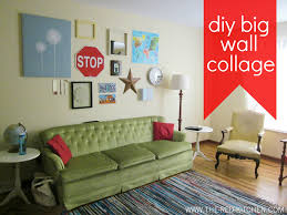 the red kitchen diy big wall collage