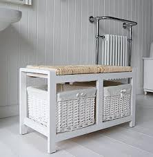 White Wicker Bathroom Drawers Bench With Storage Baskets U2013 Amarillobrewing Co