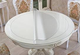 thick clear vinyl table protector amazon com eco round table protector round dining tabletop cover