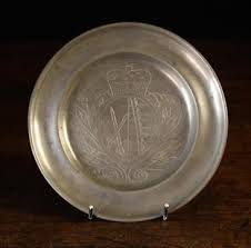 personalized pewter plate a small late 18th century lowlands german pewter plate engraved