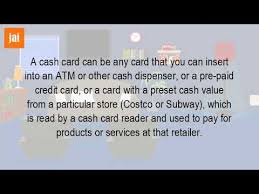 pre pay card what is the card
