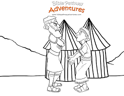 free bible coloring page king saul and david