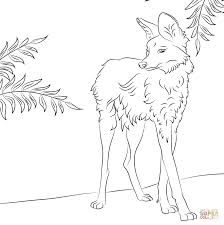 cute maned wolf coloring page free printable coloring pages