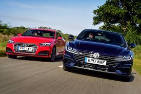 new volkswagen arteon volkswagen arteon vs audi a5 sportback auto express