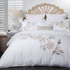 logan and mason laurel natural super king bed quilt cover set in