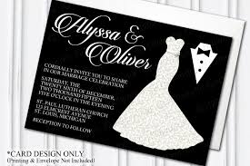 and black wedding invitations glamorous dress tuxedo wedding invitation glam themed