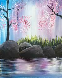 spring painting ideas uncategorized easy painting ideas inside elegant easy landscape