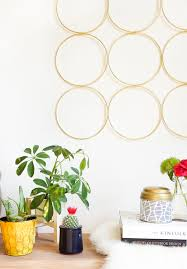 Home Wall Decor by Diy Brass Ring Wall Decor Sugar U0026 Cloth