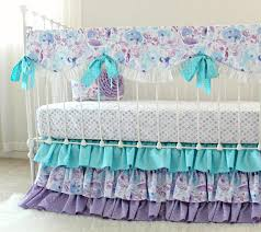 Teal And Purple Crib Bedding Purple Crib Bedding Set Dreams Bumperless Baby Bedding