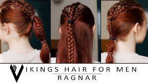 lagertha lothbrok hair braided vikings hair tutorial for men ragnar lothbrok youtube