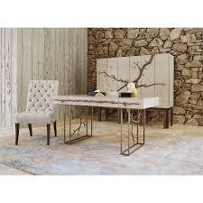 Polished Oak Desk Ambella Home
